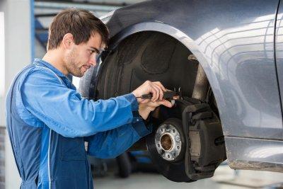 Man Repairing Tire